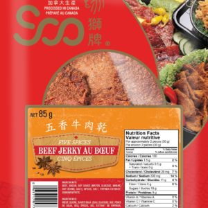 Soo 5 Spice Beef Jerky