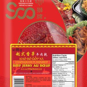 Soo Vietnamese Style Lemon Grass Beef Jerky