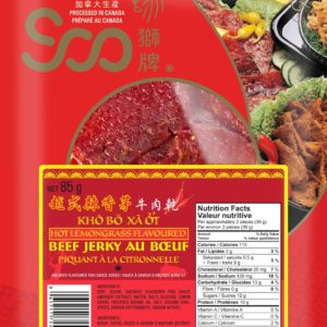Soo Vietnamese Style Hot Lemon Grass Beef Jerky