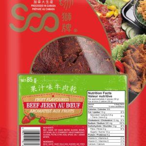Soo Fruit Flavored Beef Jerky