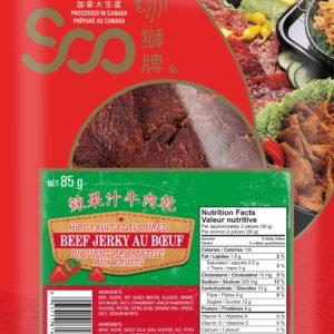 Soo Hot Fruit Flavored Beef Jerky