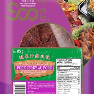 Soo Hot Fruit Flavored Pork Jerky