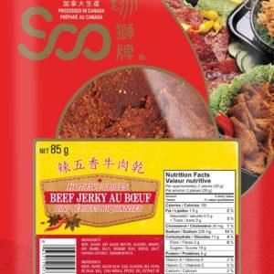 Soo Hot 5 Spice Beef Jerky